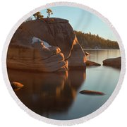 Bonsai Rock Round Beach Towel by Jonathan Nguyen