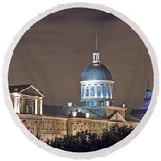 Bonsecours At Night Round Beach Towel