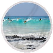 Boogie Up Round Beach Towel