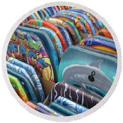 Boogie Boards Round Beach Towel