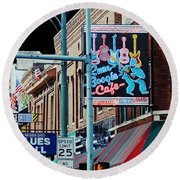 Boogie On Beale St Memphis Tn Round Beach Towel