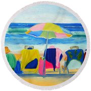 Book Club Round Beach Towel