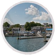 Boothbay Harbor 1242 Round Beach Towel