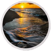 Boracay Sunset Round Beach Towel