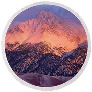 Borah Peak  Round Beach Towel