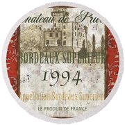 Bordeaux Rouge 2 Round Beach Towel