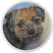 Border Terrier Jack Round Beach Towel
