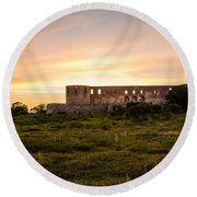 Borgholm Castle In Sweden Round Beach Towel