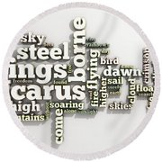 Borne On Wings Of Steel Round Beach Towel