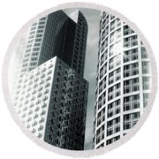 Boston Architecture Round Beach Towel