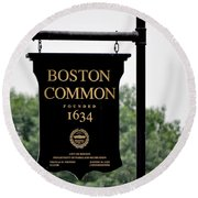 Boston Common Ma Round Beach Towel