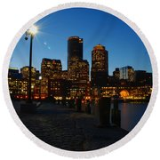 Boston Harbour Round Beach Towel
