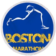 Boston Marathon2 Round Beach Towel