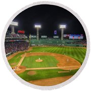 Boston Red Sox And New York Yankees At Fenway Park - Art Round Beach Towel