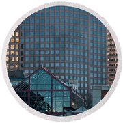 Boston Reflections Round Beach Towel