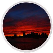 Boston Twilight Round Beach Towel