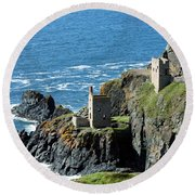 Botallack Crown Engine Houses Cornwall Round Beach Towel