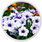 Round Beach Towel featuring the photograph Botanical Medley by Deena Stoddard