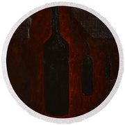 Round Beach Towel featuring the painting Bottles by Shawn Marlow