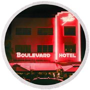 Boulevard Hotel Round Beach Towel