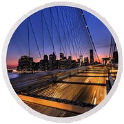 Bound For Greatness Round Beach Towel by Evelina Kremsdorf