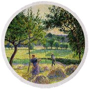 Bountiful Harvest, 1893 Round Beach Towel