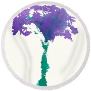 Round Beach Towel featuring the painting Bouquet Abstract 1 by Frank Bright