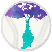 Round Beach Towel featuring the painting Bouquet Abstract 2 by Frank Bright