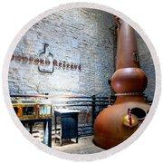 Bourbon Distillery Round Beach Towel by Alexey Stiop