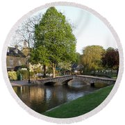 Bourton On The Water 2 Round Beach Towel