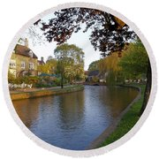 Bourton On The Water 3 Round Beach Towel
