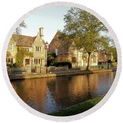 Bourton On The Water Round Beach Towel