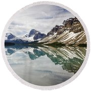 Bow Lake Round Beach Towel by Dee Cresswell