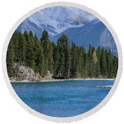 Bow River  Round Beach Towel