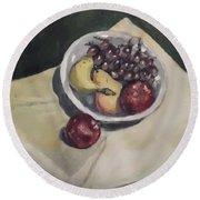 Bowl Of Fruit Round Beach Towel