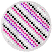 Boxed Stripe Round Beach Towel