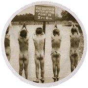 Boys Bathing In The Park Clapham Round Beach Towel