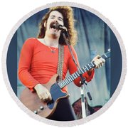 Brad Delp Of Boston-day On The Green 1 In Oakland Ca 5-6-79 1st Release Round Beach Towel