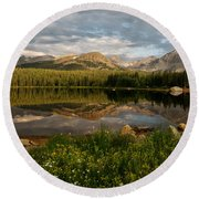 Brainard Lake Round Beach Towel