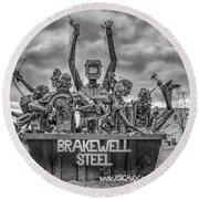 Brakewell Steel Round Beach Towel