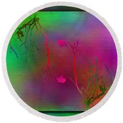 Branches In The Mist 32 Round Beach Towel