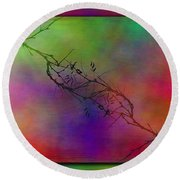 Branches In The Mist 34 Round Beach Towel