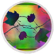 Branches In The Mist 38 Round Beach Towel