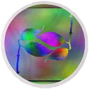 Branches In The Mist 45 Round Beach Towel