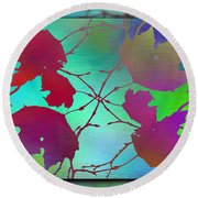 Branches In The Mist 72 Round Beach Towel
