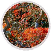 Branches Of Color Round Beach Towel