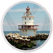 Brandywine Shoal  Lighthouse Round Beach Towel