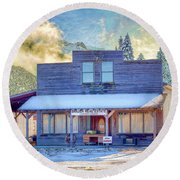 Round Beach Towel featuring the photograph Brauer Real Estate Linwood Kansas by Liane Wright