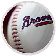 Braves Baseball Round Beach Towel