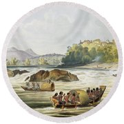 Brazilian Fort St. Gabriel On The Rio Round Beach Towel